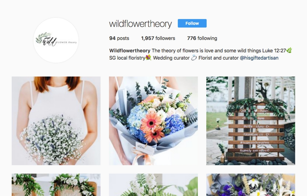 Get Inspired With These 10 Local Florists On Instagram Hello We Are Wt