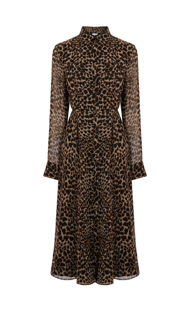 5a9866459 LEOPARD PRINT MIDI SHIRT DRESS - Hello! We are wt+