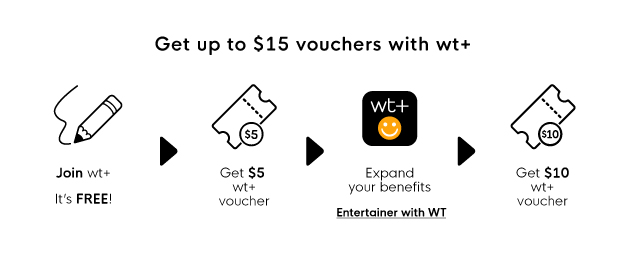 Get up to $15 vouchers with wt+