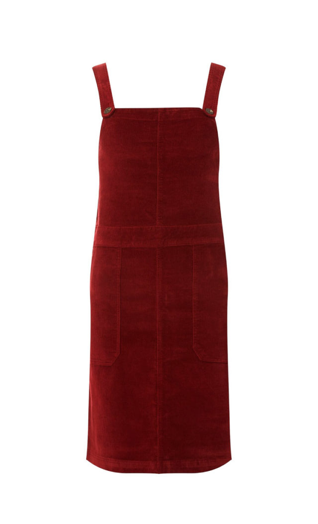 118e9b4f1ec Berry Red Corduroy Pinafore Dress - Hello! We are wt+